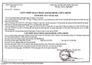 Giấy phép hoạt động của Trung tâm Thừa kế & Ứng dụng Đông y Việt Nam